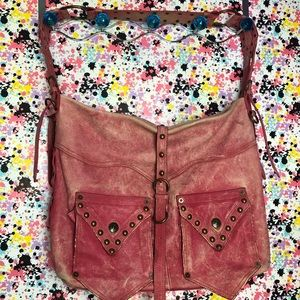 Betsey Johnson Faded pink leather bag